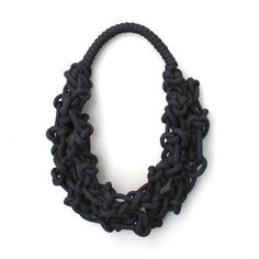 hand made necklace realized with sailing ropecomposition: 100% nylon ropehand washable