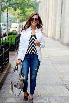 my everyday style: a white blazer!