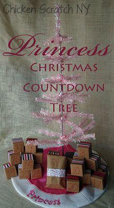 Princess Christmas Countdown Tree