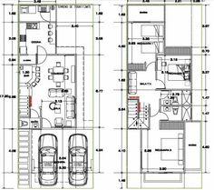 planos de casas modernas de dos pisos pequeñas hermosa