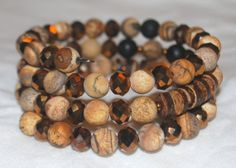 Picture Jasper Brown Bronze Copper Crystal by Cheshujewelry, $26.00
