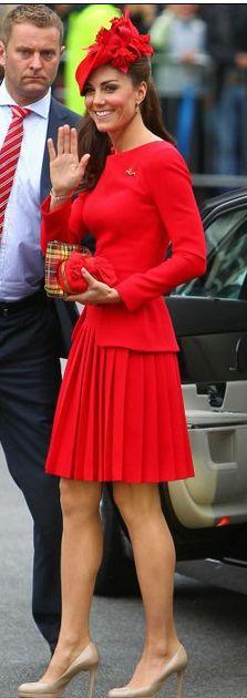 Kate in Alexander McQueen
