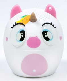 Listen to your favorite tracks with whimsical charm using this Bluetooth speaker flaunting an adorable creature design. Includes speaker and micro USB cable1.65'' diameter x 1.73'' HCharge duration: 4 hoursBluetoothImported