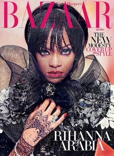 Rihanna Keeps it Covered for Harper's Bazaar Arabia Shoot