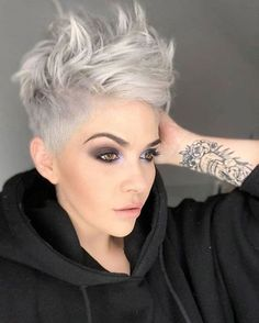 Today we have the most stylish 86 Cute Short Pixie Haircuts. We claim that you have never seen such elegant and eye-catching short hairstyles before. Pixie haircut, of course, offers a lot of options for the hair of the ladies'… Continue Reading → Short Hair Cuts For Women, Short Hairstyles For Women, Hairstyles Haircuts, Latest Hairstyles, Casual Hairstyles, Medium Hairstyles, Hairstyles For Over 40, Short Funky Hairstyles, Latest Haircuts