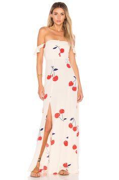 1f8a6f12a791 FLYNN SKYE Bardot Maxi Dress in Cherry