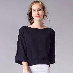 O Neck Wide Sleeve Sweater. Plus Size JumpersBeige ... 418c853e4