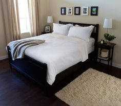 Guest bedroom on pinterest ikea white quilts and bed frame for Ikea bed with box spring
