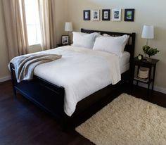 HEMNES Bed frame, black-brown, Lönset | Ikea fans, Adjustable beds ...