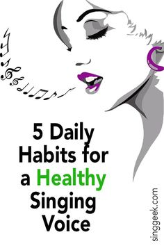 5 Daily Habits for a Healthy Voice - Singgeek 5 Daily Habits for a Healthy Singing Voice<br> By applying these daily habits for a healthy voice, you should see an increase in the general ability of your voice. A healthy voice = a beautiful voice. Vocal Lessons, Violin Lessons, Singing Lessons, Singing Tips, Music Lessons, Art Lessons, Singing Exercises, Vocal Exercises, Voice Training Exercises