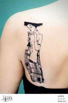 Egon Schiele / Gustav Klimt-ish tattoo                                                                                                                                                                                 More