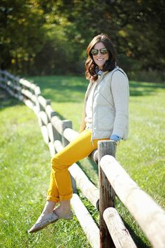 Fall Trends + Yellow Corduroys #fall #corduroys #layering