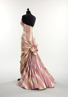 Evening dress (image 2)   House of Schiaparelli   French   1948   silk   Brooklyn Museum Costume Collection at The Metropolitan Museum of Art   Accession Number: 2009.300.2923