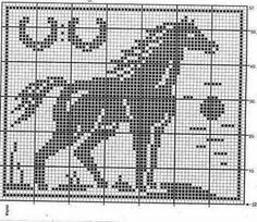 Ponto cruz de um cavalo.