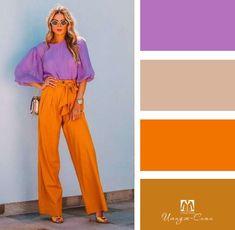 Warm Colour Palette, Modern Color Palette, Color Combinations For Clothes, Color Combos, Fashion Colours, Colorful Fashion, Vintage Street Fashion, Capsule Outfits, Matching Outfits