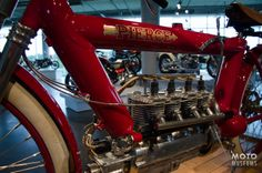 "1910 Pierce Four ""Vibrationless Motorcycle"" seen at Barber Vintage Motorsports Museum"