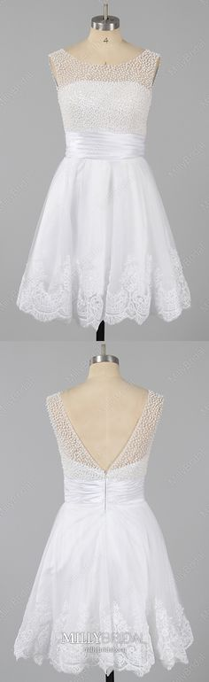 White Homecoming Dresses Short, Modest Prom Dresses Backless, A-line Cocktail Party Dresses Tulle, Elegant Sweet 16 Dresses Beading Modest Formal Dresses, Vintage Formal Dresses, Formal Dresses For Teens, Dresses Short, Backless Prom Dresses, Tulle Prom Dress, Dress For You, Vintage Homecoming Dresses, Two Piece Homecoming Dress