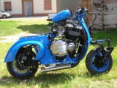Vespa with Suzuki GSX 750 engine (via)