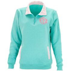 Monogrammed Pullover Sweatshirt Mint With Pink Stripe Pullover... (1,410 PHP) ❤ liked on Polyvore featuring tops, hoodies, sweatshirts, navy, women's clothing, blue sweatshirt, 1/4 zip pullover, quarter zip sweatshirt, quarter zip pullover and navy blue tops