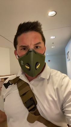 @ResproUK went with green today! Took a little to get used to breathing through he Cinqro Urban filter. But, Loving the fit now! #maskfilter #filteredmask #Respro #PPE