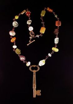 Dishfunctional Designs: How To Make Necklaces With Vintage Keys