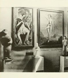 Room 3-West wall, of the Degenerate art exhibition ('Entartete Kunst') was organised by the Nazi regime in Munich and exhibited over 650 art works banned from 32 German museums.