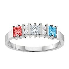 Mother's Ring Idea. I could put my stone in the center (Jan) and the boys have the same stone  (June).