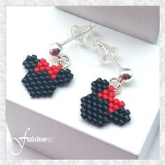 Perler Bead Designs, Beading Techniques, Beading Tutorials, Seed Bead Patterns, Beading Patterns, Seed Bead Earrings, Beaded Earrings, Bead Jewellery, Beaded Jewelry