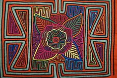 Kuna Geometric Traditional Mola Hand stitched Applique Art Flower Bloom Panel 7B. If you cannot  locate this listing, please contact us at cheetahdmr@aol.com