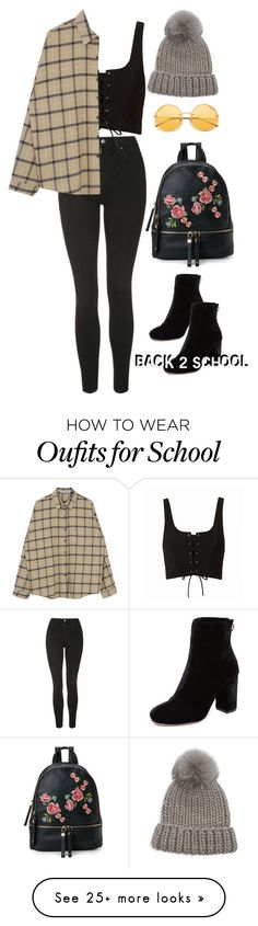 """back to school // Wednesday"" by fjnm on Polyvore featuring Topshop, Joie, Eugenia Kim and Urban Expressions"