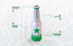 """WONDERFUL BRAND BLOG / Article + #video / """" #Heineken transforme ses bouteilles en #GPS""""  --- """"pour faire venir les touristes et résidents de la ville d'Amsterdam à la Heineken Brewery, la marque a transformé celle-ci en GPS. Un système de guidage qui oriente les passants grâce à la capsule rotative sur laquelle le logo de la marque s'allume pour prendre une forme de flèche et devenir une boussole."""""""