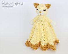 Kitty Cat Lovey CROCHET PATTERN instant download  von Bowtykes