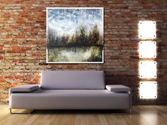 36 x 36 acrylic on woodboard. Skyline abstraction landscaping. Painting Haguier Abstract Landscape, Les Oeuvres, Love Seat, Landscaping, Skyline, Painting, Furniture, Home Decor, Landscape Planner