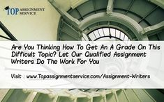 Assignment Writers Are Most Impotant Things To Have Quality Writing, We Have Phd Level Writers For Your Assignments  #AssignmentWriter #AssignmentWriting #WritingAssignmentHelp #AssignmentHelp  Visit : www.topassignmentservice.com/assignment-writers