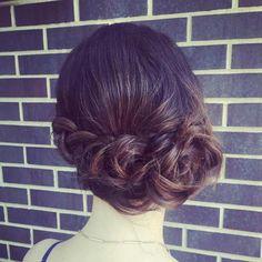 Wedding Hairstyles Medium Hair Braided Updo For Medium Hair - Short Hair Bun, Wedding Hairstyles For Medium Hair, Braided Hairstyles Updo, Cute Hairstyles For Short Hair, Trending Hairstyles, Braided Updo, Up Hairstyles, Updos, Messy Updo