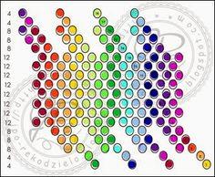 JPo-kulka22 tecza 12 kol Seed Bead Jewelry, Seed Beads, Beaded Jewelry, Beaded Bead, Crochet Ball, Bead Crochet, Bead Crafts, Jewelry Crafts, Rainbow