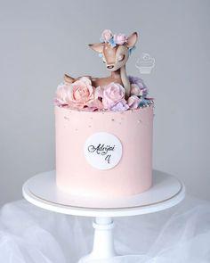 Baby Girl Birthday Cake, Baby Girl Cakes, Cute Birthday Cakes, Teen Birthday, Happy Birthday, Pretty Cakes, Cute Cakes, Bolo Fack, Cake Designs For Girl
