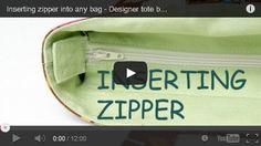 Vídeo: como colocar zíper interno para fechamento de bolsa.