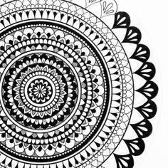 Image result for mandalas art black and white