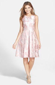 Eliza J Floral Jacquard Fit & Flare Dress | Nordstrom