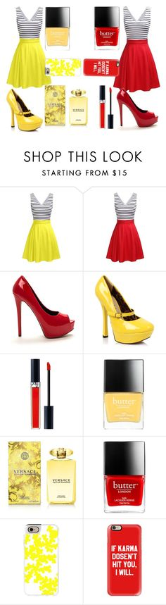 """Sisters 2"" by tjedge ❤ liked on Polyvore featuring Christian Dior, Butter London, Versace and Casetify"