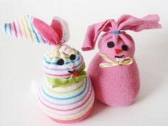 Easter sock bunnies... yay