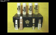 Vintage Mary Quant Overnighter make up collection. This set came in a yellow case too which I have just bought with all of its contents! I have uploaded pics if you would like to take a wee trip down memory lane. Vintage Makeup, Vintage Vanity, Vintage Avon, Vintage Beauty, Vintage Fashion, 1980s Makeup, Makeup For Teens, Teen Makeup, Mary Quant