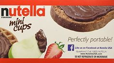 Nutella Ferrero Hazelnut Spread With Skim Milk Cocoa  Mini Cups  3 Pack 52oz Each Box Made in Germany -- Find out more about the great product at the image link.