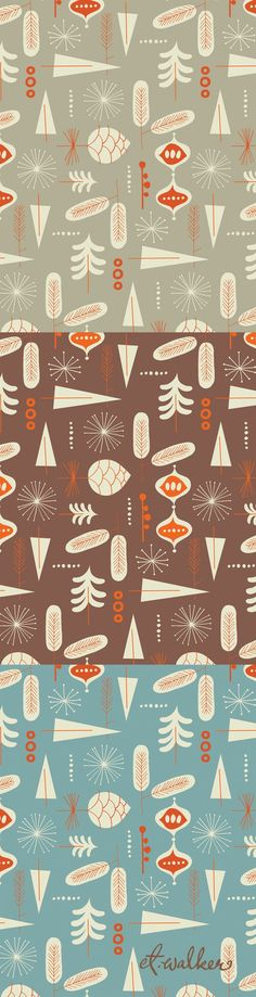 winter wonderland©tracywalker #pattern #christmas #surfacedesign