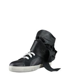 Cinzia Araia Wedge Rabbit leather sneakers