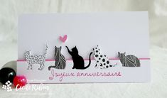 Hand Games, Girly, Cardmaking And Papercraft, Cat Cards, Animal Cards, Make Design, Stampin Up, Birthday Cards, Sketches