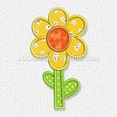 Free Embroidery Design: Flower