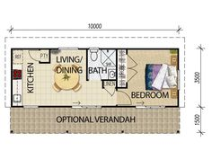 House Plans Queensland granny flat plans. Who needs to take up all that LR space with a table?