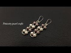 Seed Bead Earrings, Beaded Earrings, Earrings Handmade, Handmade Jewelry, Pearl Earrings, Drop Earrings, Pearl Jewelry, Jewelery, Japanese Jewelry